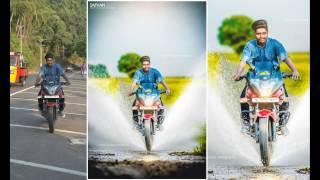 photo editing in photoshop l photoshop tutorial l water splashing bike