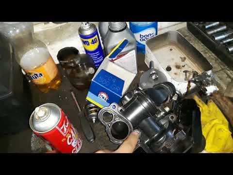 AUDI A4 1.8TFSI 2009г.в. процедура замены помпы, насосс системы охлаждения