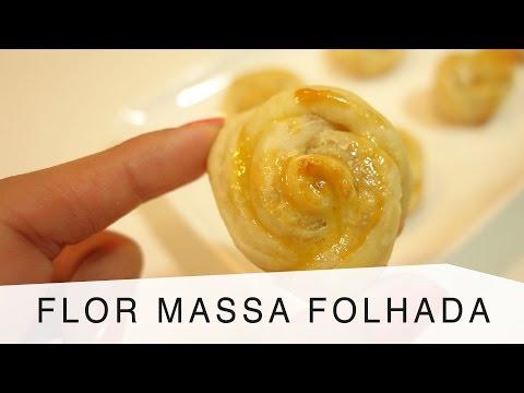 Receita Flor de Massa Folhada