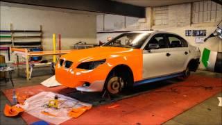 getlinkyoutube.com-BMW E60 Gloss Orange Wrap