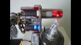 getlinkyoutube.com-E-905 STIRLING ENGINE CUT MODEL.MOV