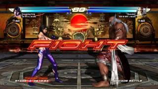 getlinkyoutube.com-Tekken Tag Tournament 2: Arcade Mode: Unknown and Jun Kazama