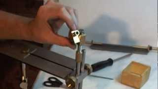 getlinkyoutube.com-Самодельная точилка, новый шарнир. Sharpening system, rotating joint.