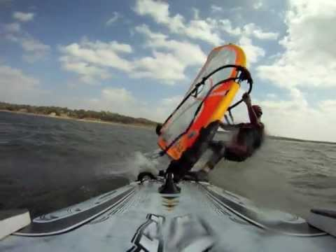 Windsurfing Pumpkin Cup at DCYC with a GoPro (2012)