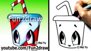 getlinkyoutube.com-Kawaii Food - How to Draw Kawaii EASY - Soda pop drink