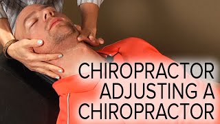 getlinkyoutube.com-Chiropractic Spinal and Neck Adjustment on a Chiropractor (Female Doctor, Male Patient)