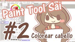 getlinkyoutube.com-Tutorial Paint Tool Sai #2 - Colorear el cabello