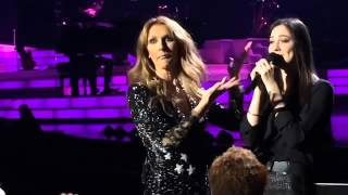 getlinkyoutube.com-Celine Dion gets surprised when she listens to the brazilian singer Maria Claudia