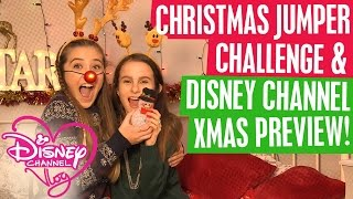 getlinkyoutube.com-DISNEY CHANNEL VLOG | CHRISTMAS JUMPER CHALLENGE | XMAS PREVIEW! 🎅 🎄☃️