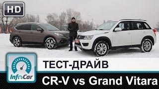 getlinkyoutube.com-Honda CR-V 2.4 vs. Suzuki Grand Vitara 2.4 - тест-сравнение от InfoCar.ua