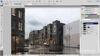 getlinkyoutube.com-Postproduction of 3d scene in Adobe Photoshop - Tip of the Week