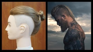 getlinkyoutube.com-Man Bun Undercut - Josh Mario John Inspired Haircut - TheSalonGuy