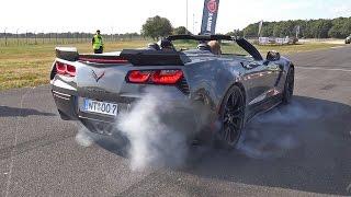 getlinkyoutube.com-Chevrolet Corvette C7 Z06 - Burnout & Drag Racing!