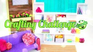 getlinkyoutube.com-DIY - eeBoo Craft Challenge:  How to Make a Doll Room - Doll Crafts