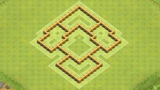 Clash of Clans Town Hall 5 Defense (CoC TH5) BEST Trophy Base Layout Defense Strategy