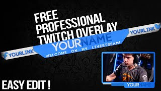 getlinkyoutube.com-Free Professional Twitch Overlay ! + Tutorial : How to edit? | Download link