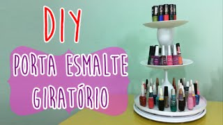 getlinkyoutube.com-DIY | Porta Esmalte GIRATÓRIO por Coisas de Jessika