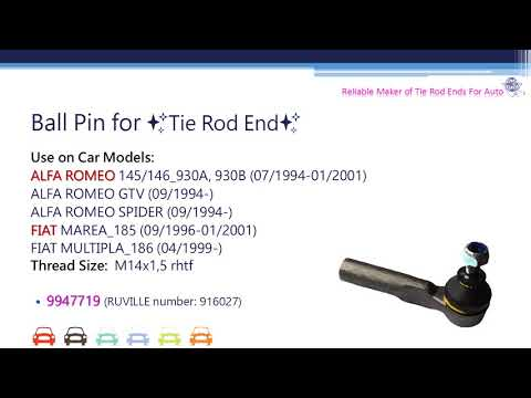 ALFA ROMEO/FIAT/LANCIA/Auto Parts/Tie Rod End/High Quality Manufacturer of Ball Pin
