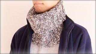 getlinkyoutube.com-ネックウォーマー(スヌード)編み方・作り方【メンズ・レディースOK! かぎ編み】diy crochet cowl tutorial