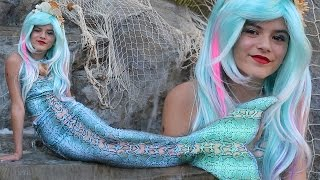 getlinkyoutube.com-MERMAID MAKEUP TUTORIAL!!  | HALLOWEEN COSTUME |  KITTIESMAMA