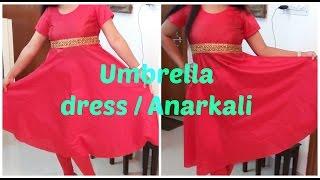 getlinkyoutube.com-Umbrella Dress / Anarkali | DIY