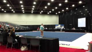 getlinkyoutube.com-Crescent City Gymnastics Level 7 WP 2012 #whodatacrobats