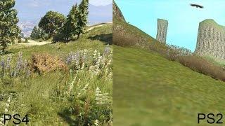 PS4 vs PS2 Graphics Comparison: Gta 5 vs Gta San Andreas FULL HD 1080p