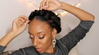 getlinkyoutube.com-Summer Halo Goddess Braid Hair Tutorial