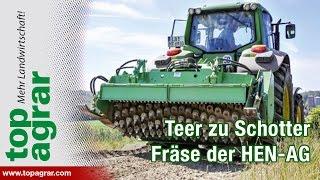 getlinkyoutube.com-Teer zu Schotter: Feldwege mit Fräse sanieren (HEN-AG)