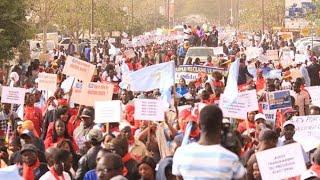 Sénégal,Marche de l'opposition à Guédiawaye, Gakou fait  une démonstration de force dans la banlieue