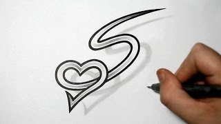 getlinkyoutube.com-Letter S and Heart Combined - Tattoo design ideas for Initials