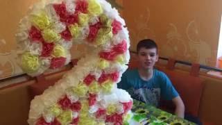 getlinkyoutube.com-Изготовление цифры на день рождения Настеньки. #пиньята # рукоделие