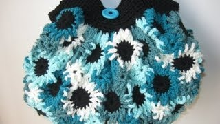 getlinkyoutube.com-Crochet Flower Purse Tutorial 1 - Making the Flowers