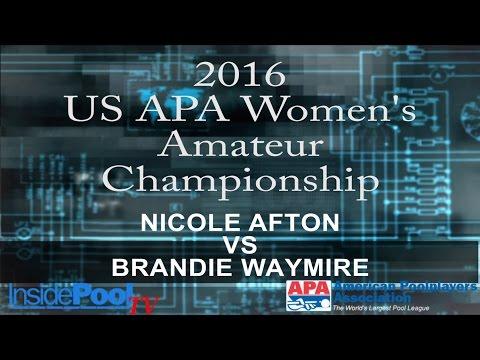 2016 U S  APA Womens Amateur Championship Nicole Afton vs Brandie Waymire