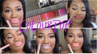getlinkyoutube.com-ColourPop Ultra Matte Lip Review + Lip Swatches for Deeper Skin Tones | #thepaintedlipsproject