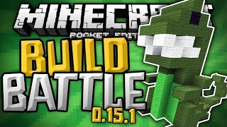 BUILD BATTLE SERVER for 0.15.1!!! - Build Wars Minigame MCPE - Minecraft PE (Pocket Edition)