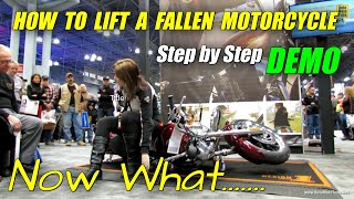 getlinkyoutube.com-How to lift a fallen Motorcycle - Demonstration at Harley-Davidson Stand at 2013 NY Motorcycle Show