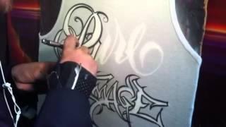 getlinkyoutube.com-Airbrush script style lettering
