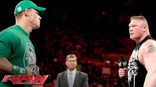getlinkyoutube.com-John Cena and Brock Lesnar sign the contract for their Extreme Rules Match: Raw, April 23, 2012