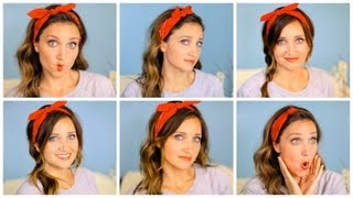 getlinkyoutube.com-Six DIY 1-Minute Bandana Hairstyles | Cute Girls Hairstyles