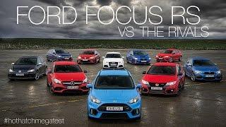 getlinkyoutube.com-Ford Focus RS vs Honda Civic Type-R vs Audi RS3 vs Mercedes-AMG A45 & more: Hot Hatch Mega Test