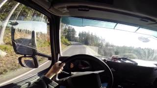 getlinkyoutube.com-POV - 1 Day of a Trucker Driver's LIFE