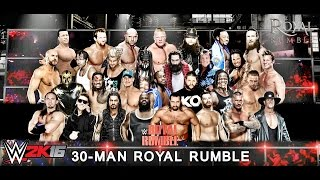 getlinkyoutube.com-WWE Royal Rumble 2016 Simulation WWE 2K16 Gameplay 720p [Xbox 360/PS3]
