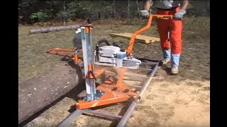 getlinkyoutube.com-Norwood PortaMill Chainsaw Sawmill