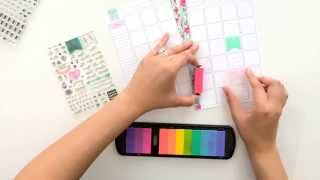 getlinkyoutube.com-How to use stamps in your Planner / Organizer