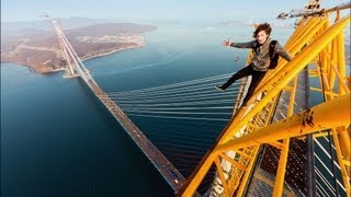 getlinkyoutube.com-Scariest Bridge Climb Ever