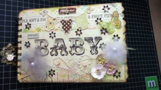 getlinkyoutube.com-Sweet Baby  - Simple Stories Baby Steps- (Share)  Mini Album #3