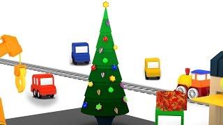 getlinkyoutube.com-Cartoni animati per bambini: Macchinine colorate e l'albero di Natale
