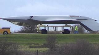 getlinkyoutube.com-Mystery Stealth aircraft spotted at BAE Warton 18/2/2014