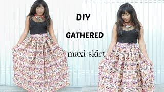 getlinkyoutube.com-SEWING : DIY GATHERED MAXI SKIRT